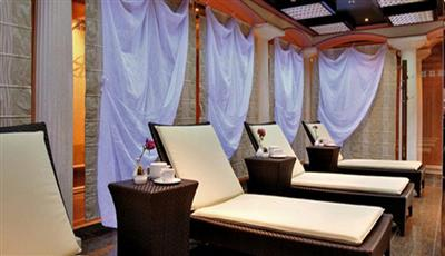 The relaxation area of Terme Ischia, the Wellness centre Spa on decks 9 and 10 of Costa Mediterranea