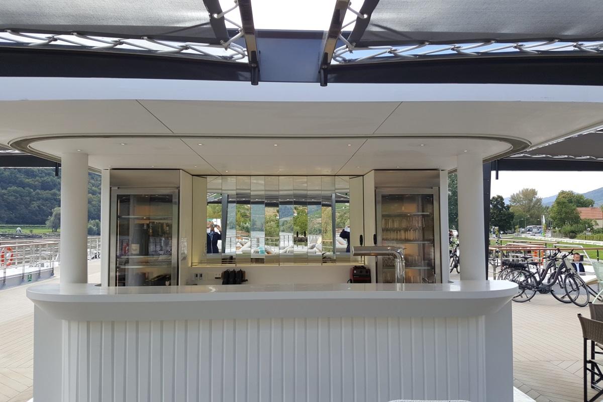Crystal Mozart sun deck bar