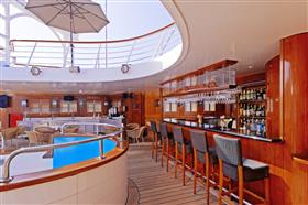 Another view of the pool bar
