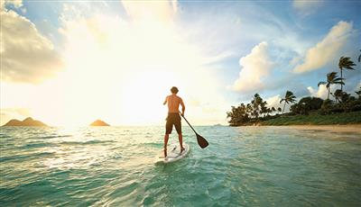 Paddling in the Caribbean