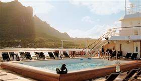 The main pool on the MS Paul Gauguin