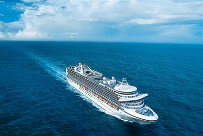 Crown Princess, exterior from above
