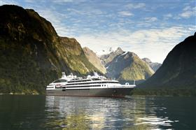 L'Austral  by Ponant Cruises in an enchanting scenario