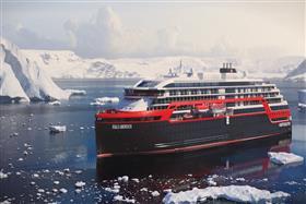 MS Roald Amundsen by Hurtigruten, exterior