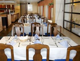 The main dining room on the Expedition