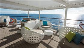 Comfy chairs on Crystal Esprit's deck