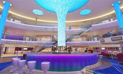 The Atrium is the heart of the nightlife onboard Carnival Horizon.