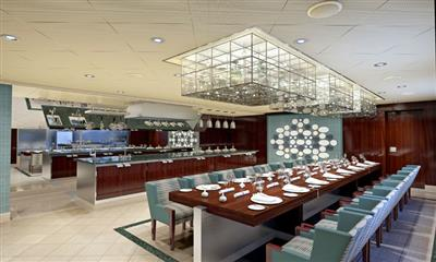 The delectable design of The Chef's Table, a great restaurant onboard Carnival Horizon.