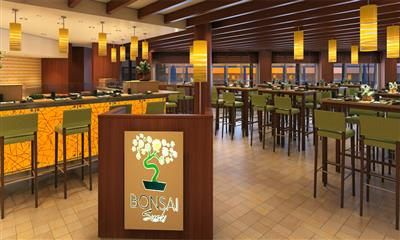 Bonsai Sushi, Carnival Horizon's onboard seafood-and-soy-sauce spot.