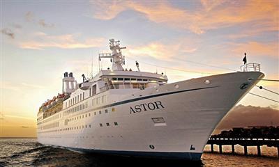 Astor docked at the port.
