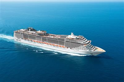 MSC Splendida, exterior, starboard