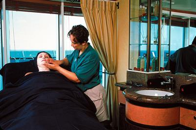 The exclusive spa on-board of the Adventure of the Cruise.