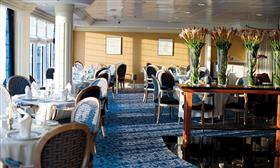 One of the elegant dining rooms of the Azamara Quest