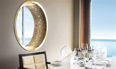 Latitude 53, the main waiter service restaurant on Marella Explorer's deck 5 and 6