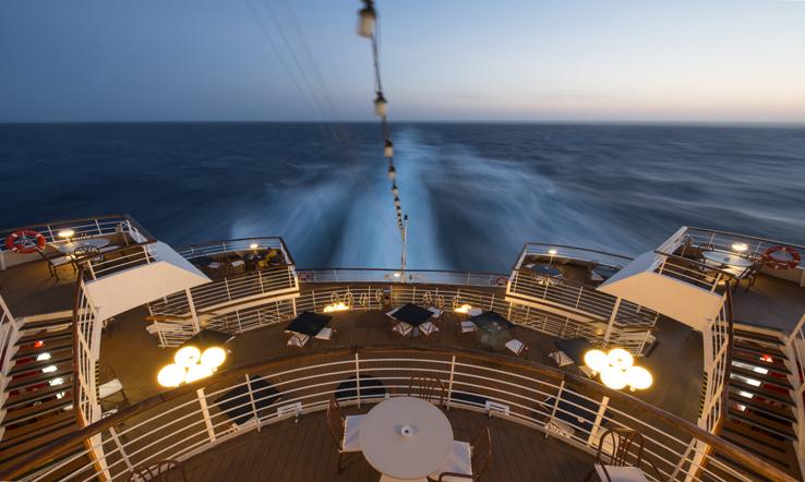 Celestyal Nefali's stern deck