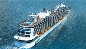 An aerial view of Anthem of the seas.
