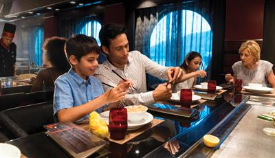 Silk, the Asia restaurant on the Quantum of the Seas
