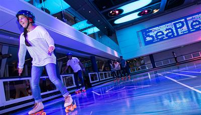 The ice rink on Quantum of the Seas