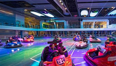 Bumper cars on Quantum of the Seas