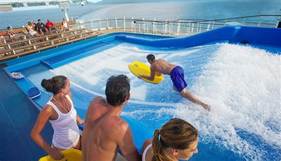 The Flow Rider, the surf simulator on the Independence of the Seas
