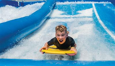 The FlowRider, the surf simulator on board Oasis of the Seas