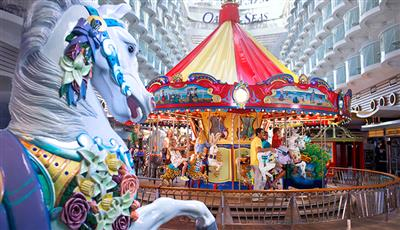 The Carousel at the forward end of Oasis of the Seas' Boardwalk