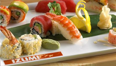 Sushi selection from Izumi,  the Asias restaurant on the Oasis of the Seas