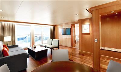 The executive suite on Marella Explorer by Marella Cruises