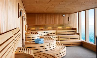 The Sauna from the Oceans Spa and Beauty Salon on Marella Explorer by Marella Cruises