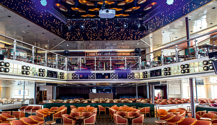 The Jubilee Lounge that host shows and entertainment on the Thomson Spirit