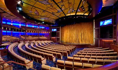 The Celebrity Infinity Theatre, where Broadway-style shows are hosted.