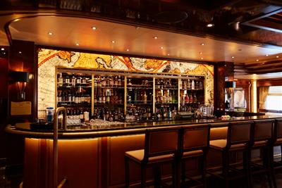 A bar counter on the Majestic Princess