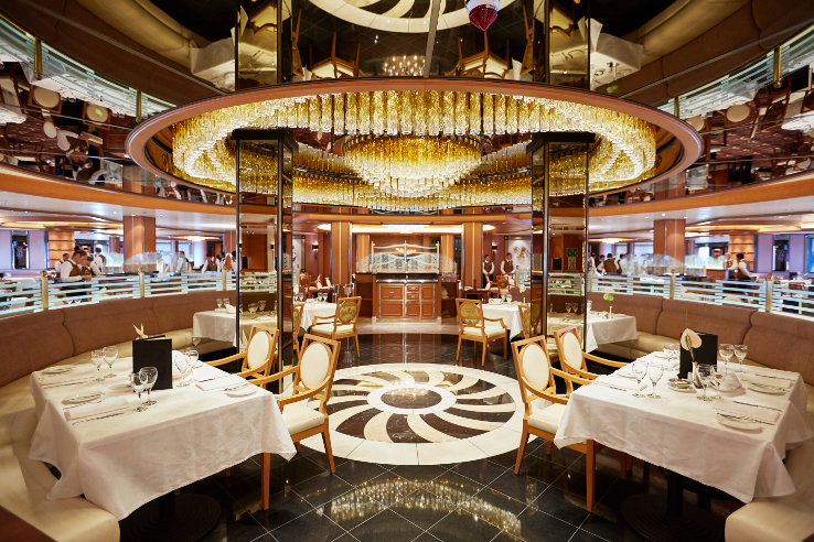 The International Café', open 24-hours on the Majestic Princess