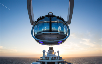 The North Star, the panoramic attraction on the Spectrum of the Seas