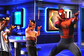 Playing with Spider-Man in the kids' club onboard Disney Fantasy