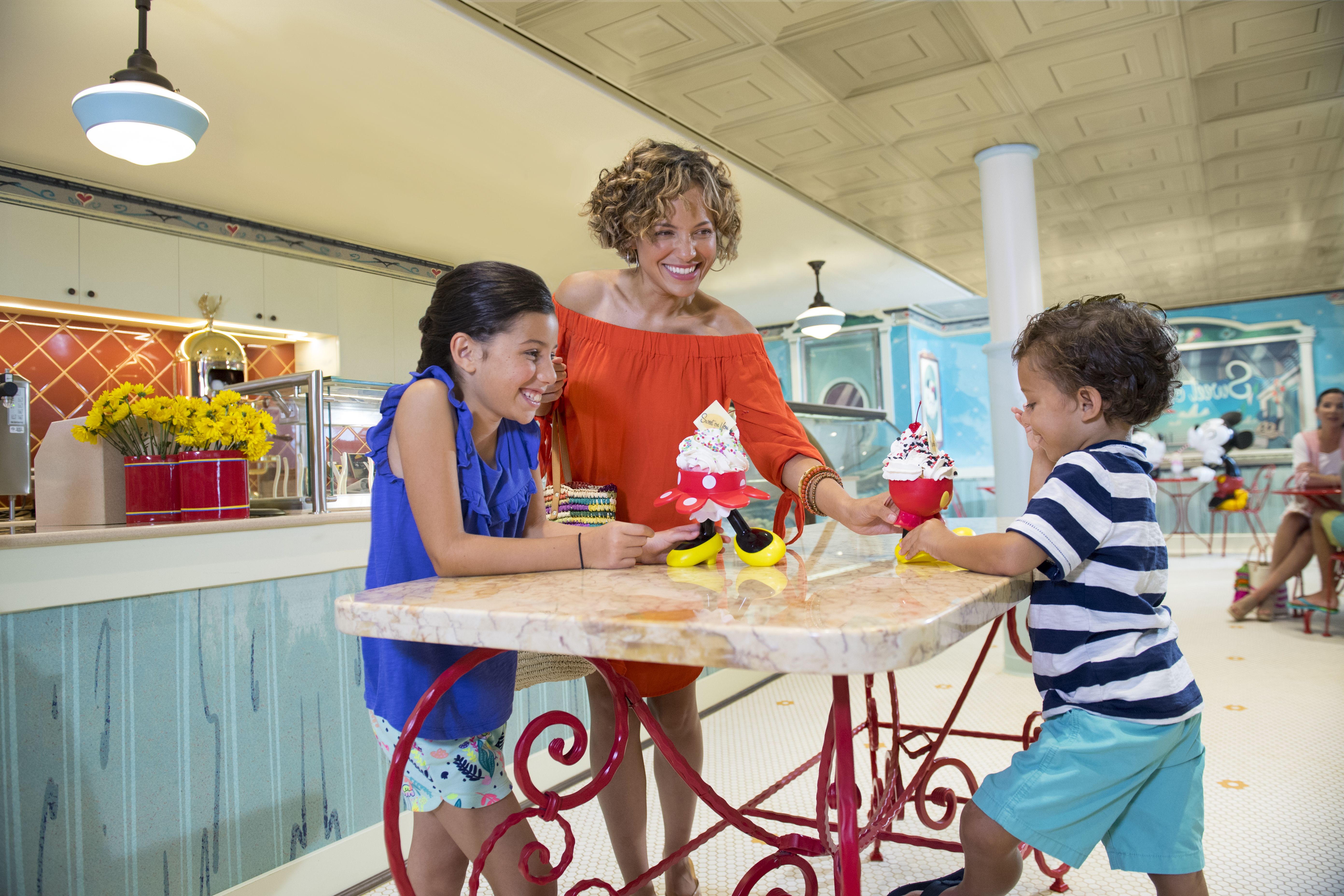 Sweet on You, the ice-cream parlor onboard the Disney Fantasy