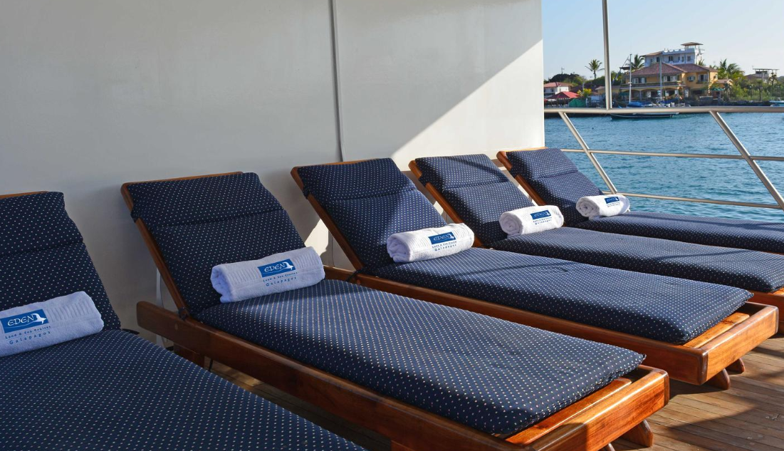 The sun deck on G-Adventures' Eden