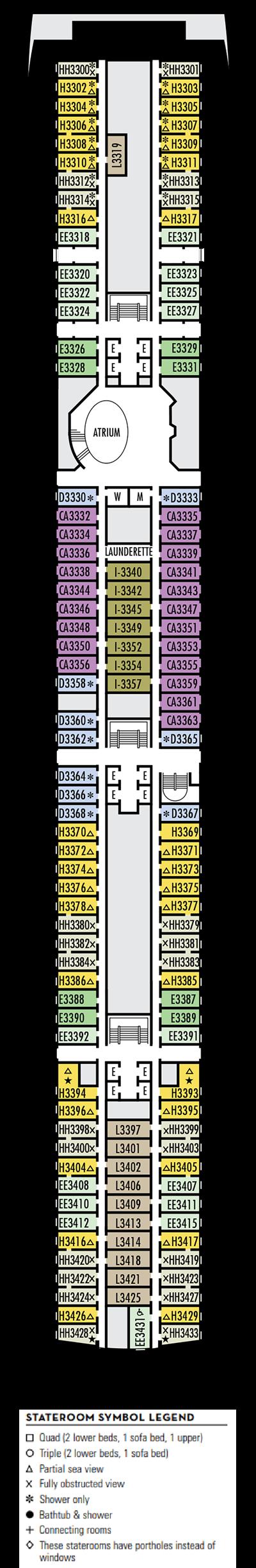Deck 3 - HAL's Amsterdam