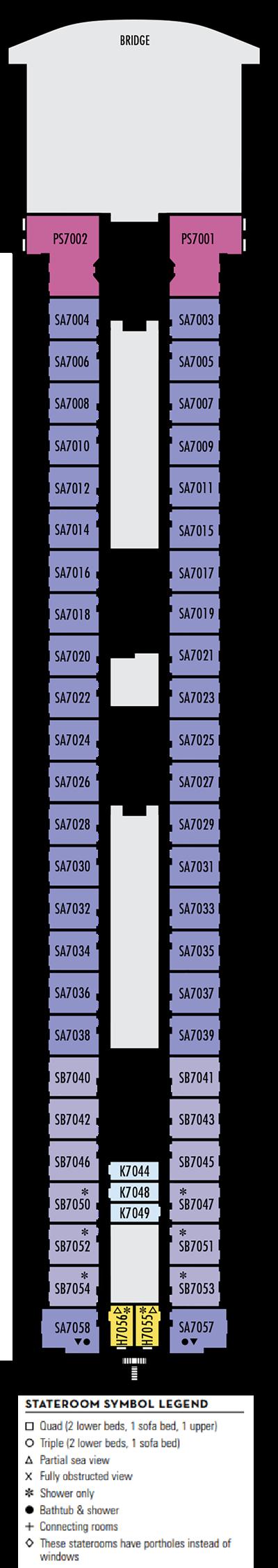 Deck 7 - HAL's Amterdam