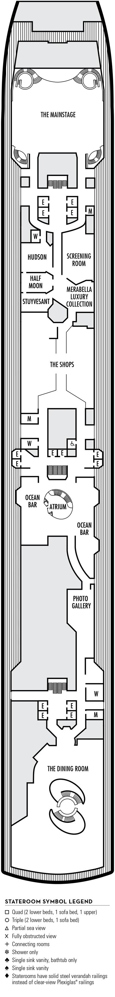 Deck 3 - HAL's Eurodam