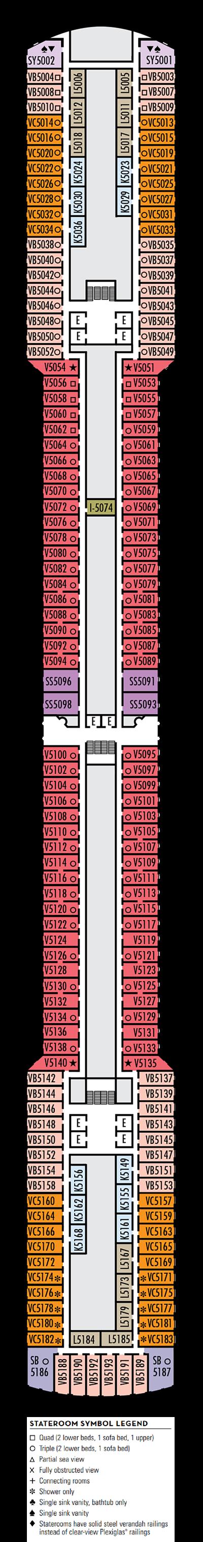 Deck 5 - HAL's Eurodam