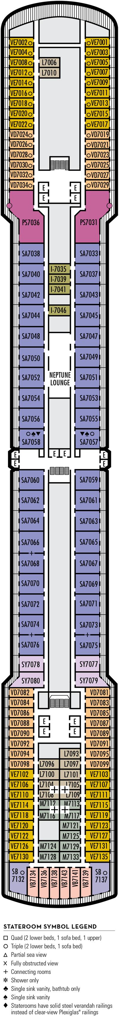Deck 7 - HAL's Eurodam