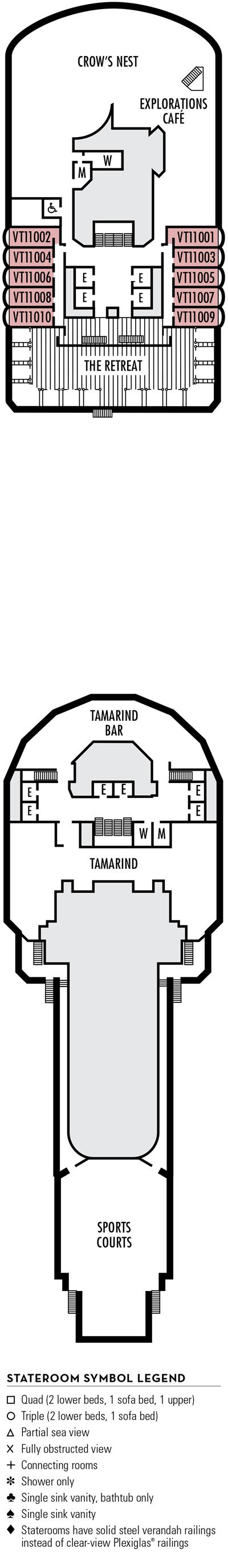 Deck 11 - HAL's Eurodam