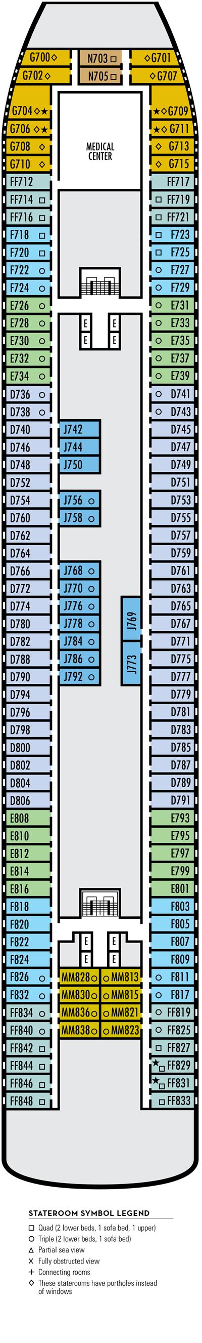 Deck 4 - HAL's Maasdam