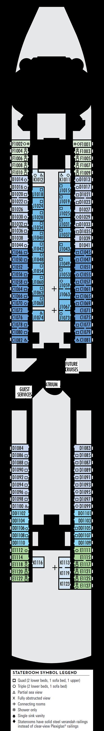 Deck 1 - HAL's Noordam