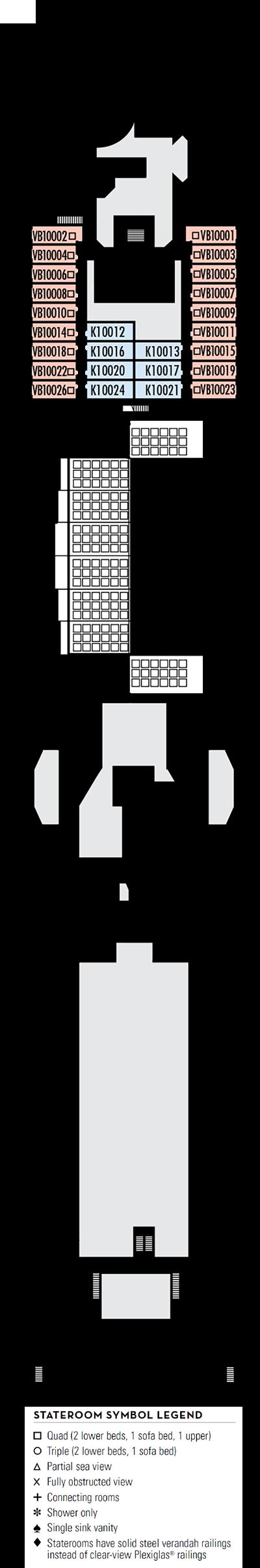 Deck 10 - HAL's Oosterdam