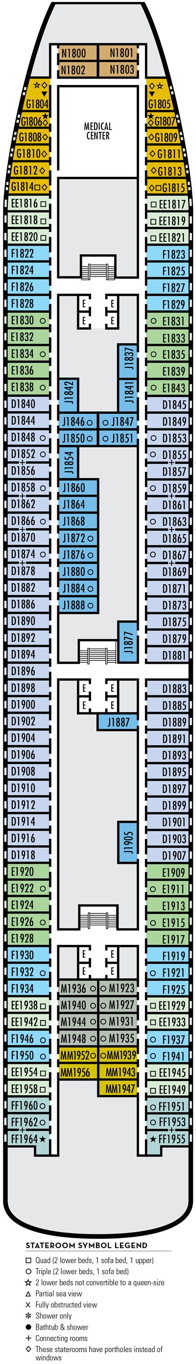 Deck 1 - MS Zaandam by HAL