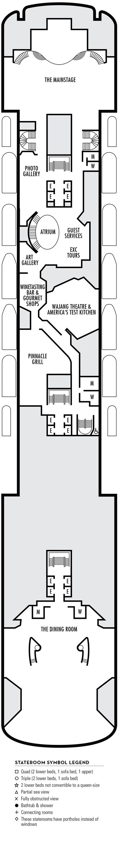 Deck 4 - MS Voledam by HAL