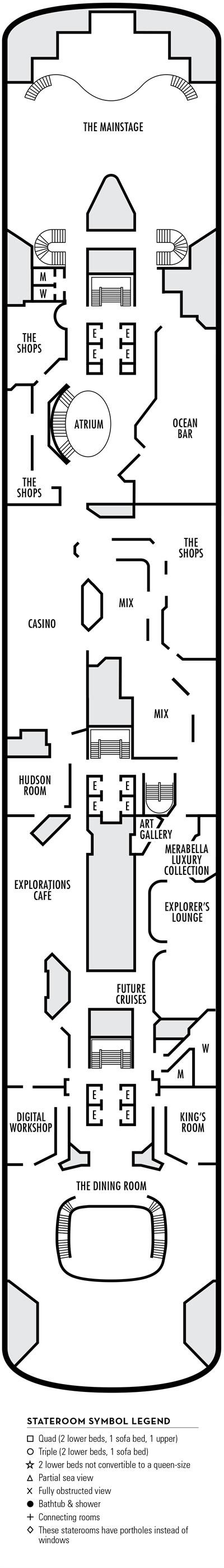 Deck 5 - MS Volendam by HAL