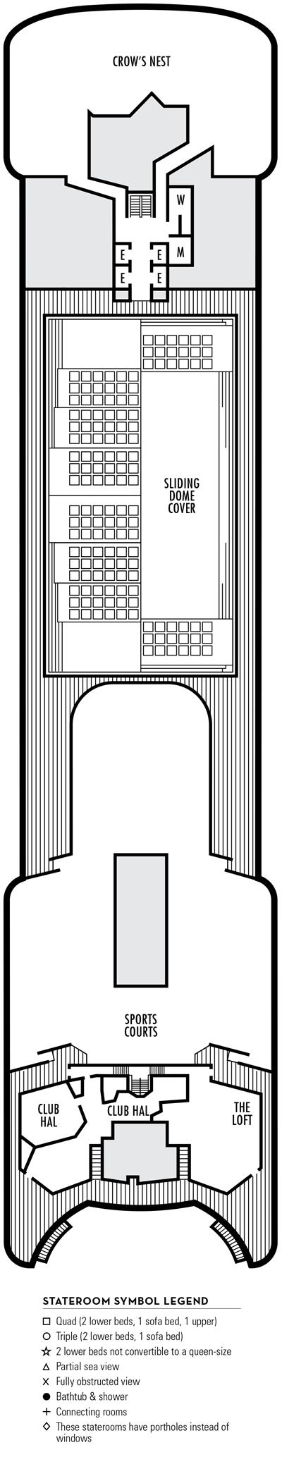 Deck 9 - MS Volendam by HAL